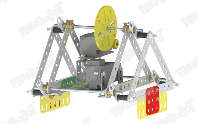 نصب پاهای ربات برای ساخت ربات مثلثی