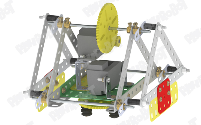 ساخت ربات مثلثی با قابلیت چرخش