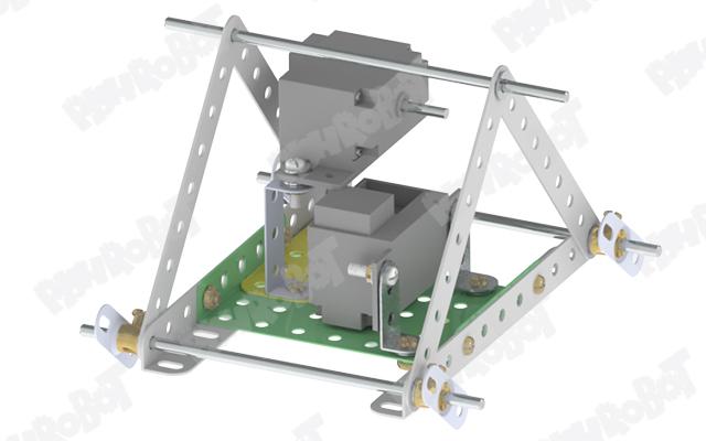 نصب موتور برای ساخت ربات کثلثی
